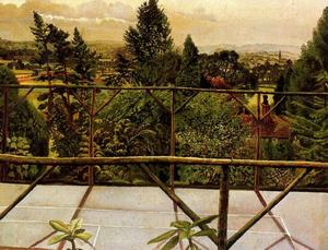 Stanley Spencer - View from the Tennis Court. Cookham