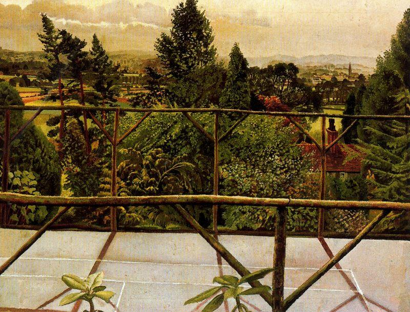 View from the Tennis Court. Cookham by Stanley Spencer (1891-1959, United Kingdom)