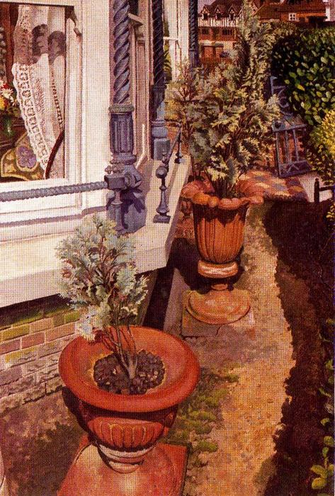 Villas at Cookham by Stanley Spencer (1891-1959, United Kingdom)