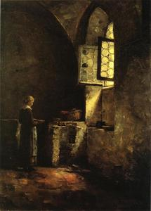 Theodore Clement Steele - A Corner in the Old Kitch..