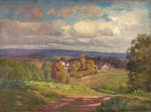 A Day of Clouds (Summer Sky, to the North) by Theodore Clement Steele (1847-1926, United States)