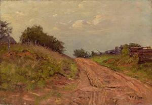 Theodore Clement Steele - A Gray Day At the Gate Way (Hill Road)