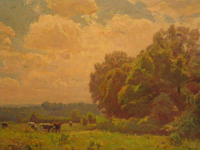A Midsummer Idyll at Noon by Theodore Clement Steele (1847-1926, United States) | Oil Painting | ArtsDot.com
