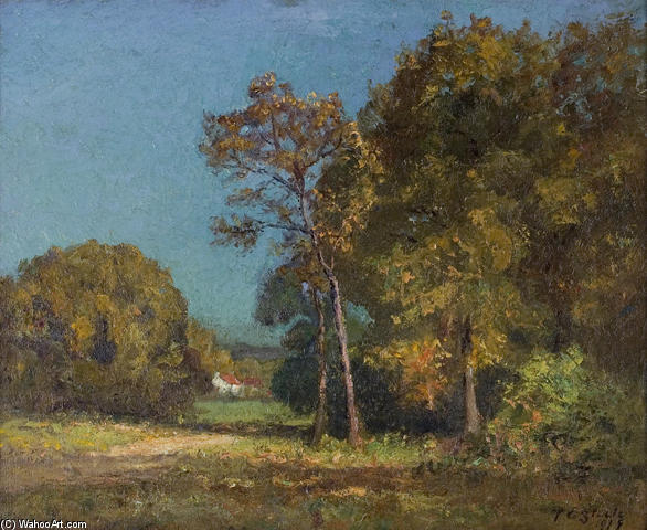 A Still October Day by Theodore Clement Steele (1847-1926, United States) | ArtsDot.com