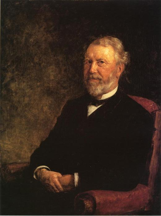 Albert G. Porter, Governor of Indiana by Theodore Clement Steele (1847-1926, United States) | Painting Copy | ArtsDot.com
