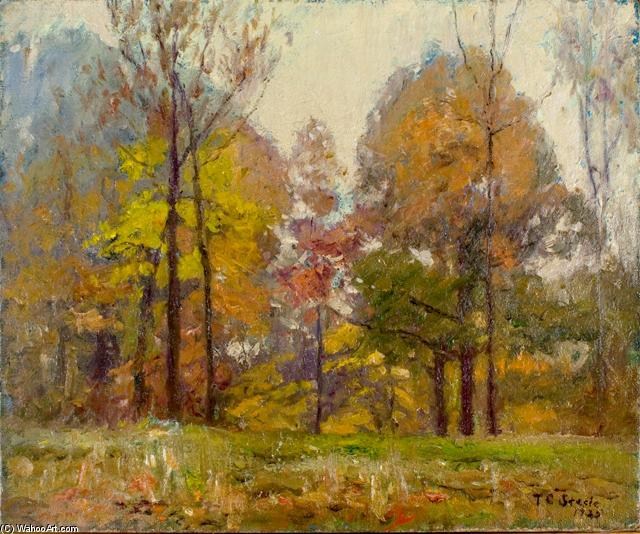 An October Day (Autumn) by Theodore Clement Steele (1847-1926, United States) | Museum Quality Reproductions | ArtsDot.com