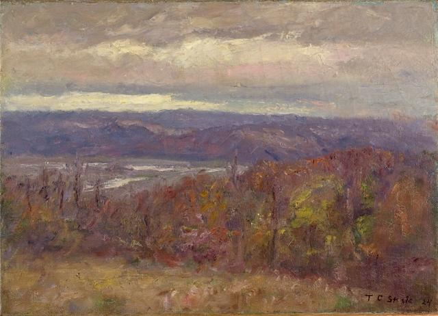 Autumn Evening in the Hills (Early Spring-Salt Creek Valley) by Theodore Clement Steele (1847-1926, United States)
