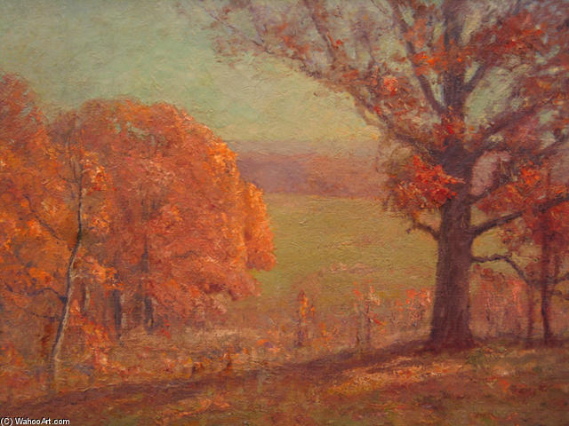 Autumn Morning by Theodore Clement Steele (1847-1926, United States)
