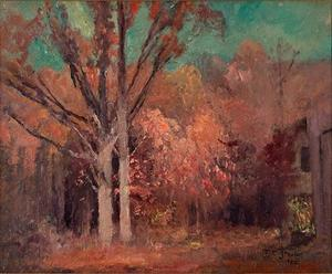 Theodore Clement Steele - Autumn Wooded Scene