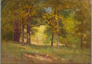 Theodore Clement Steele - Autumn Words (Forest Interior)