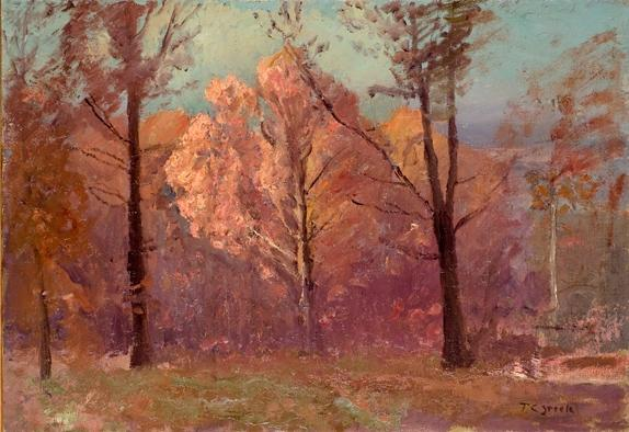 Autumn, White Oak by Theodore Clement Steele (1847-1926, United States)