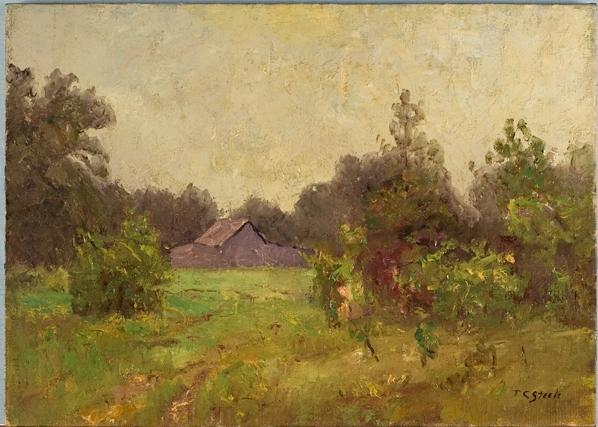 Barn Near the Steele Home by Theodore Clement Steele (1847-1926, United States) | Art Reproduction | ArtsDot.com