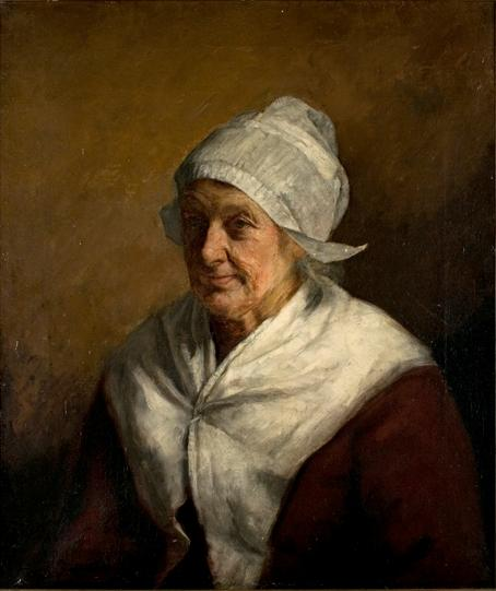 Bavarian Peasant Woman by Theodore Clement Steele (1847-1926, United States) | Oil Painting | ArtsDot.com