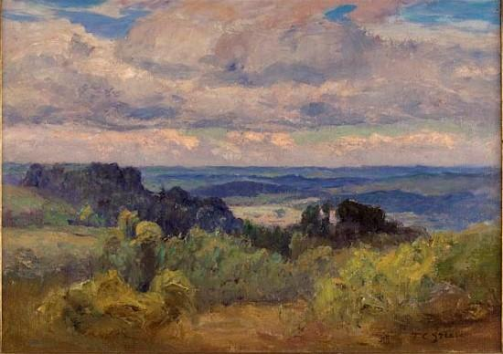 Blue Hills and Sky by Theodore Clement Steele (1847-1926, United States) | ArtsDot.com
