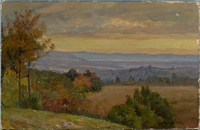 Blue Range in Afternoon (Early Autumn) by Theodore Clement Steele (1847-1926, United States) | Museum Art Reproductions Theodore Clement Steele | ArtsDot.com