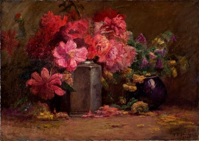 Bouquet of Flowers by Theodore Clement Steele (1847-1926, United States)