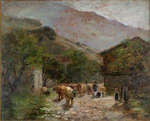 Theodore Clement Steele - Bringing Home the Cows