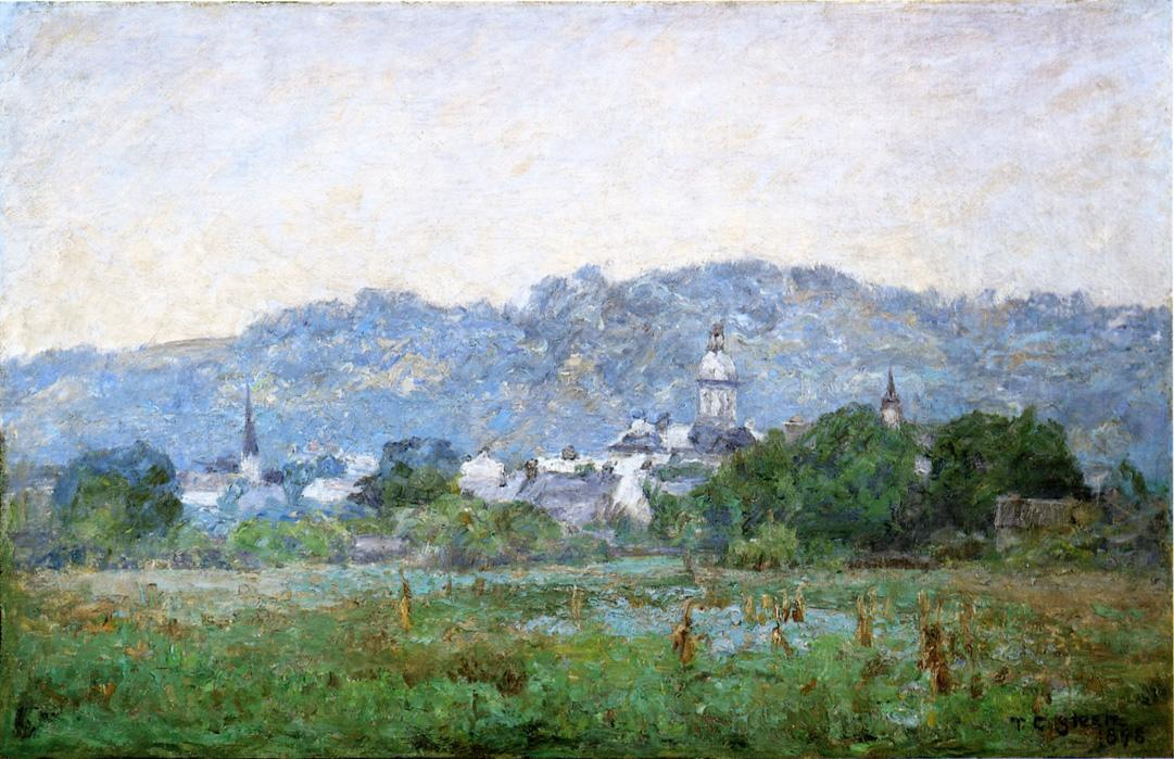 Brookville by Theodore Clement Steele (1847-1926, United States) | Painting Copy | ArtsDot.com