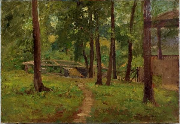 Cabin Among the Trees by Theodore Clement Steele (1847-1926, United States)