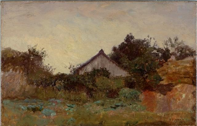 Cabin in the Wildwood by Theodore Clement Steele (1847-1926, United States) | Museum Quality Reproductions | ArtsDot.com