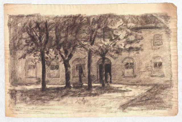 Order Art Reproduction : Drawing of building by Theodore Clement Steele (1847-1926, United States) | ArtsDot.com