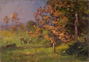 Theodore Clement Steele - Early Autumn (The Autumn White Oak)