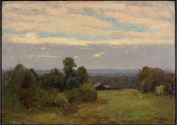 Evening (A Gray Day) by Theodore Clement Steele (1847-1926, United States) | Painting Copy | ArtsDot.com