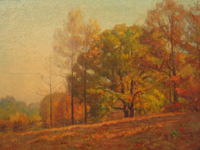 Fall in the Hills by Theodore Clement Steele (1847-1926, United States)