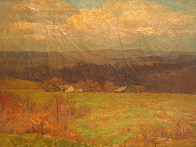 Farm in the Wooded Hills by Theodore Clement Steele (1847-1926, United States) | ArtsDot.com