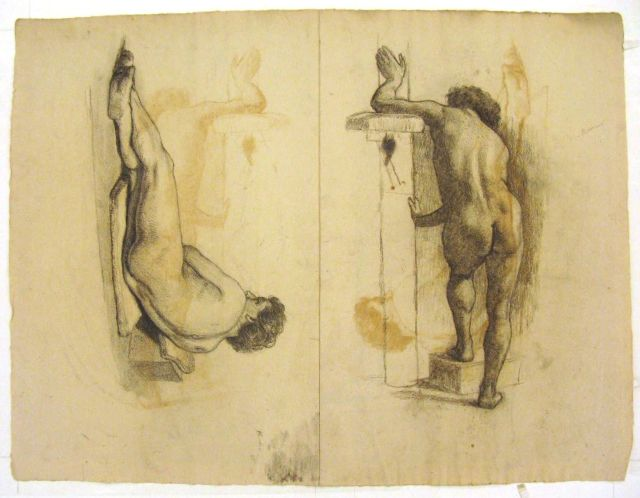 Figure studies of male nude by Theodore Clement Steele (1847-1926, United States) | ArtsDot.com