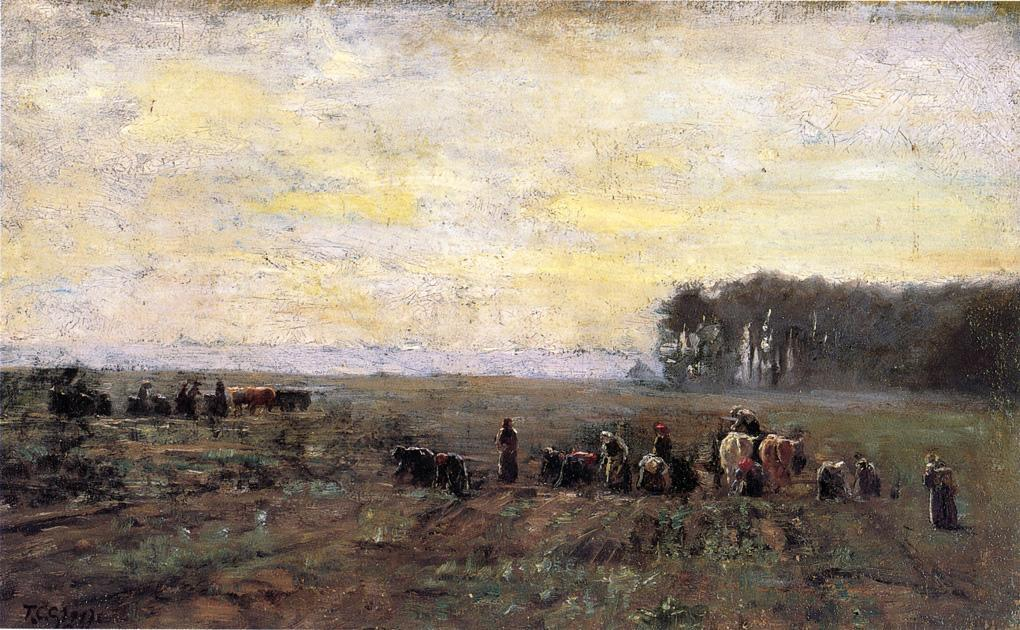 Haying Scene, 1884 by Theodore Clement Steele (1847-1926, United States) | ArtsDot.com