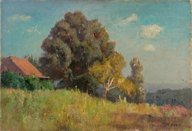 Hill Cabin (The Cottage) by Theodore Clement Steele (1847-1926, United States)