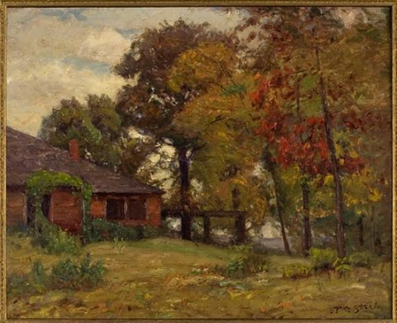 Home in the Woods by Theodore Clement Steele (1847-1926, United States)