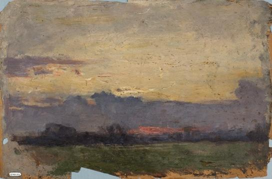 Horizon Landscape Study by Theodore Clement Steele (1847-1926, United States)