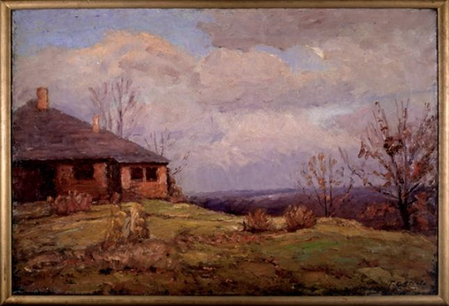 House in the Hills by Theodore Clement Steele (1847-1926, United States)