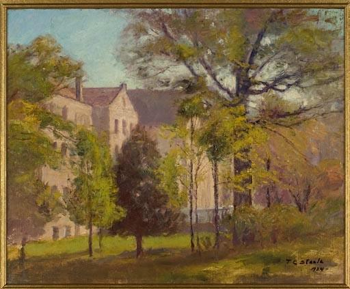 Indiana University Campus, Bloomington by Theodore Clement Steele (1847-1926, United States)