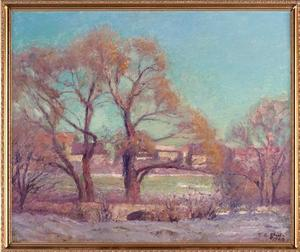 Theodore Clement Steele - Jordan Bridge - Willows on Campus