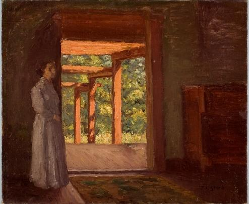 Lady in the Doorway by Theodore Clement Steele (1847-1926, United States)