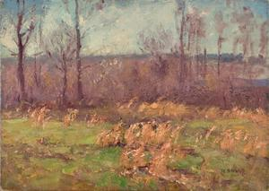 Theodore Clement Steele - Landscape (A Gray Day in the Orchard)