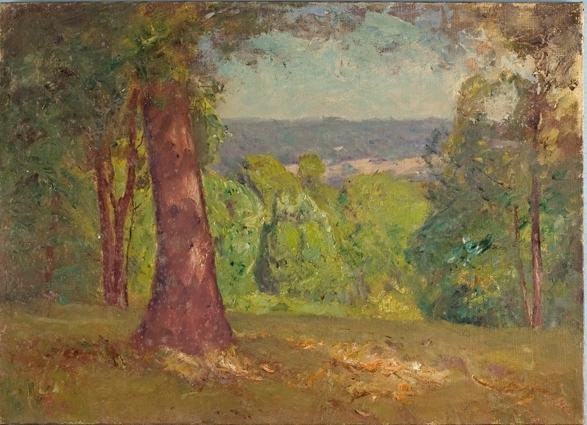 Landscape (The Oak) by Theodore Clement Steele (1847-1926, United States) | Museum Quality Reproductions | ArtsDot.com
