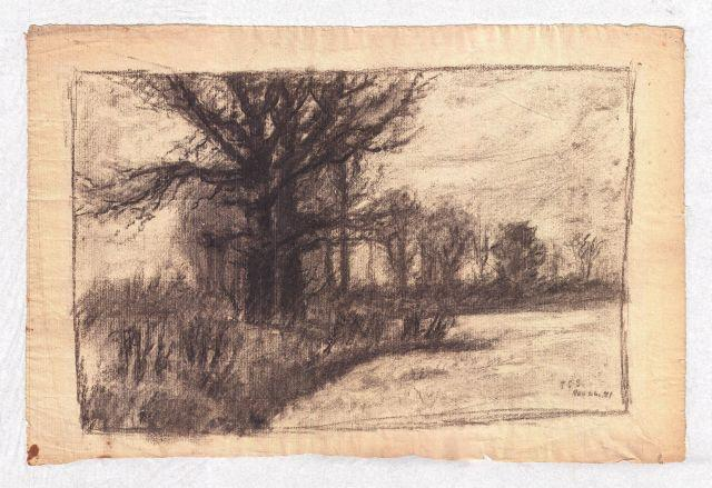 Landscape 2 by Theodore Clement Steele (1847-1926, United States) | Museum Quality Reproductions | ArtsDot.com