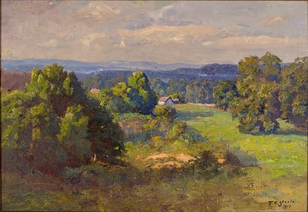 Landscape 25 by Theodore Clement Steele (1847-1926, United States) | ArtsDot.com