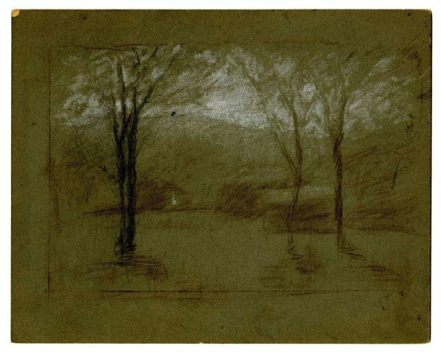 Landscape 7 by Theodore Clement Steele (1847-1926, United States)