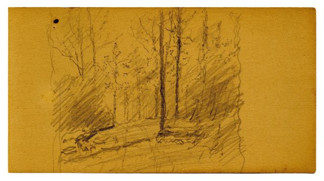 Landscape sketch 1 by Theodore Clement Steele (1847-1926, United States)