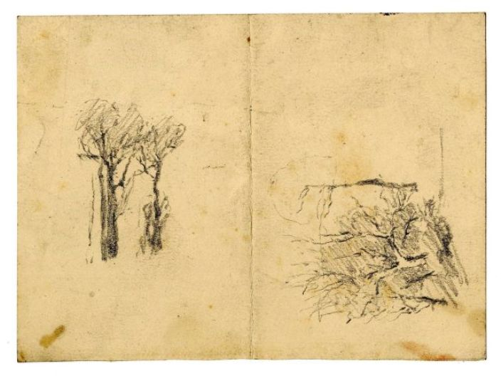 Landscape sketch 12 by Theodore Clement Steele (1847-1926, United States)