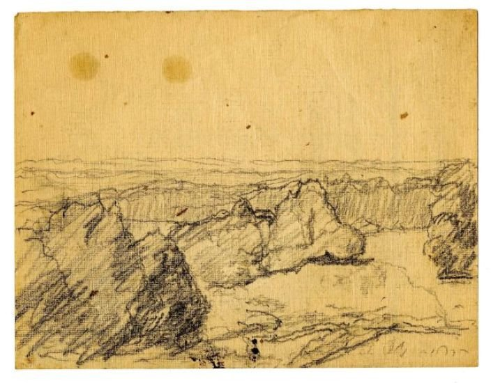 Landscape sketch 2 by Theodore Clement Steele (1847-1926, United States)