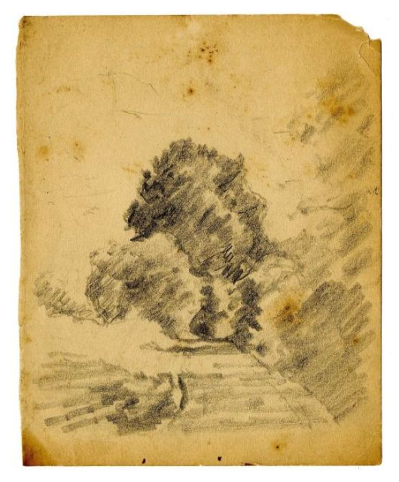 Landscape sketch 4 by Theodore Clement Steele (1847-1926, United States)