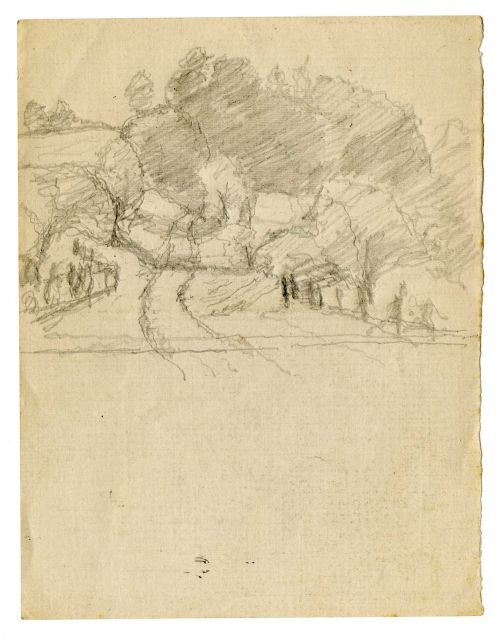 Landscape sketch 7 by Theodore Clement Steele (1847-1926, United States)