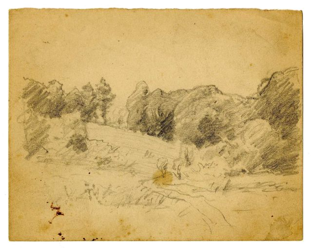 Landscape sketch 8 by Theodore Clement Steele (1847-1926, United States) | ArtsDot.com