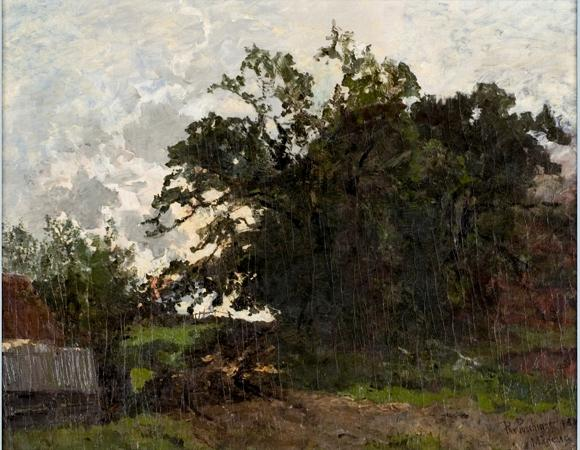 Landscape by Theodore Clement Steele (1847-1926, United States) | Museum Art Reproductions | ArtsDot.com